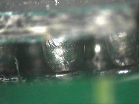 see crack at BGA ball solder joint