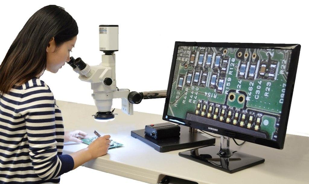 Trinocular stereo zoom hd digital usb microscope stz caltex