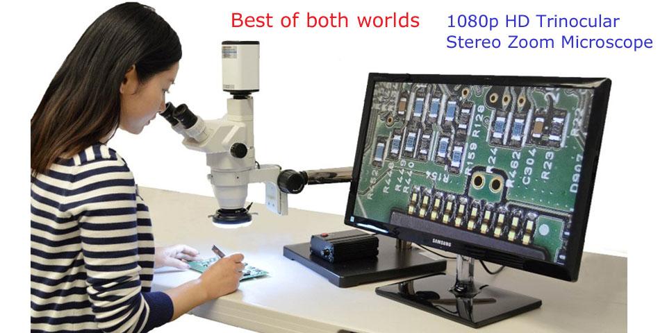 Trinocular Stereo Zoom Hd Digital Usb Microscope Stz 45